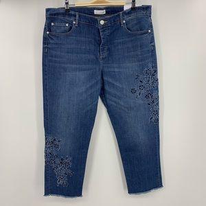 NWT Made and Loved LOFT Boyfriend Raw Edge Jeans